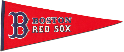Buy Boston Red Sox Wool Pennant Red Flagline