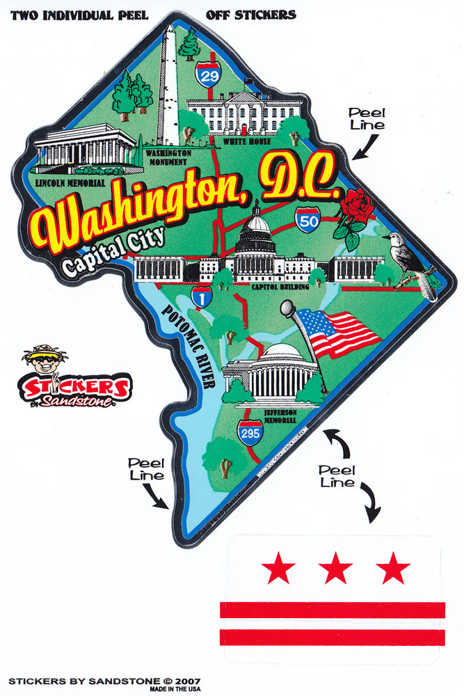Buy Washington Dc District Of Columbia State Map Die