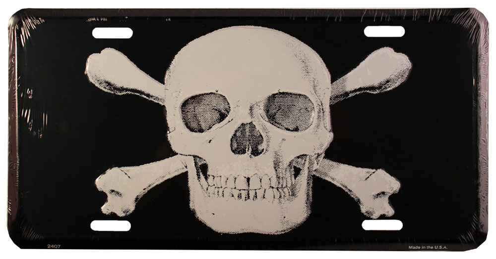 Buy Jolly Roger License Plate | Flagline