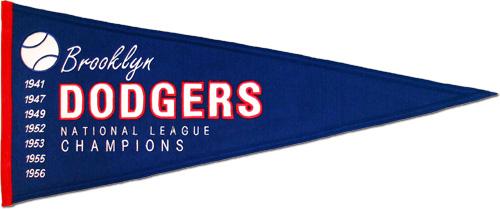 Buy Los Angeles Dodgers Wool Pennant Throwback Design