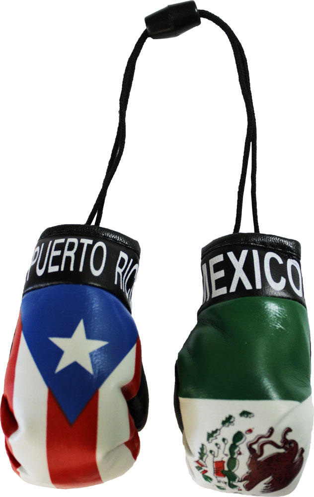 Buy Puerto Rico And Mexico Mini Boxing Gloves Flagline