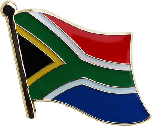 Historic SOUTH AFRICA African Country Flag Metal Lapel Pin