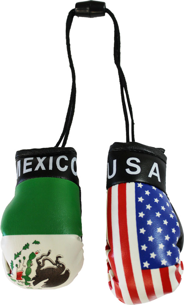 Buy Usa And Mexico Mini Boxing Gloves Flagline