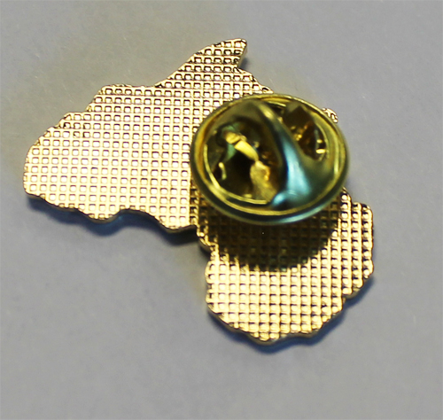 Africa Tie Tack Gold Tie Pin Boutonniere Gold Africa Mens