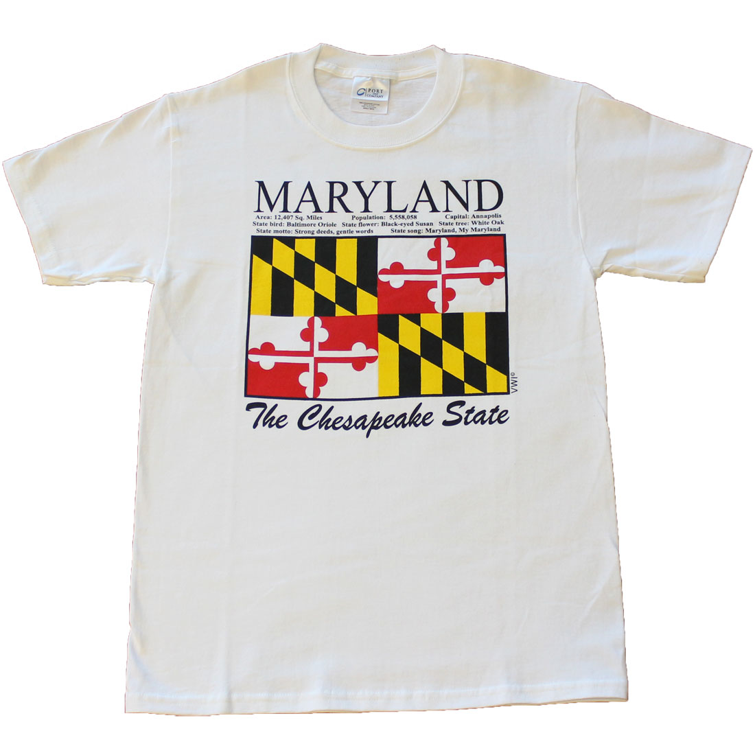 Buy Maryland State T Shirt Flagline