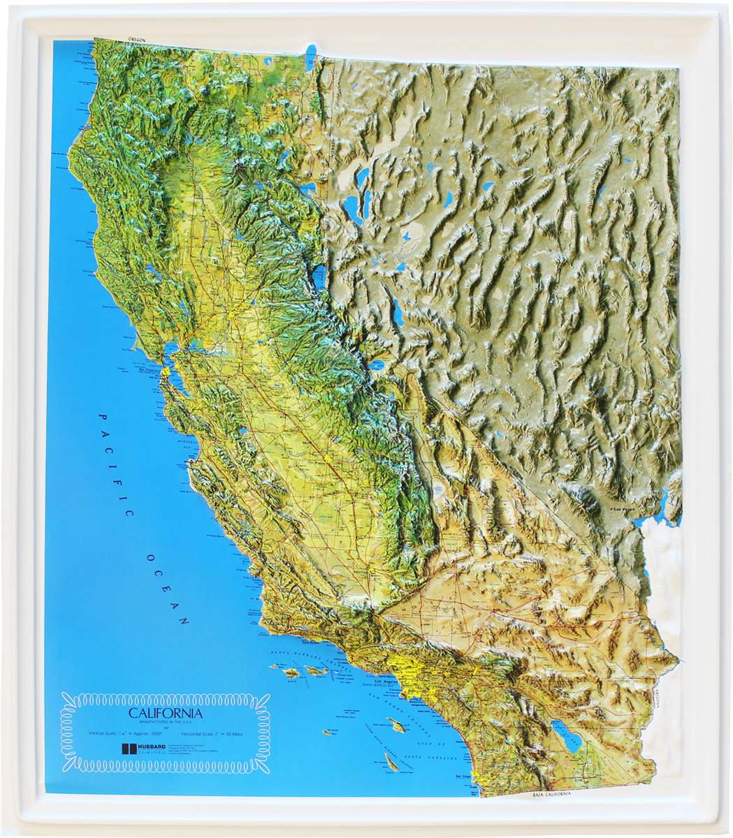 Buy California Relief Map | Flagline on