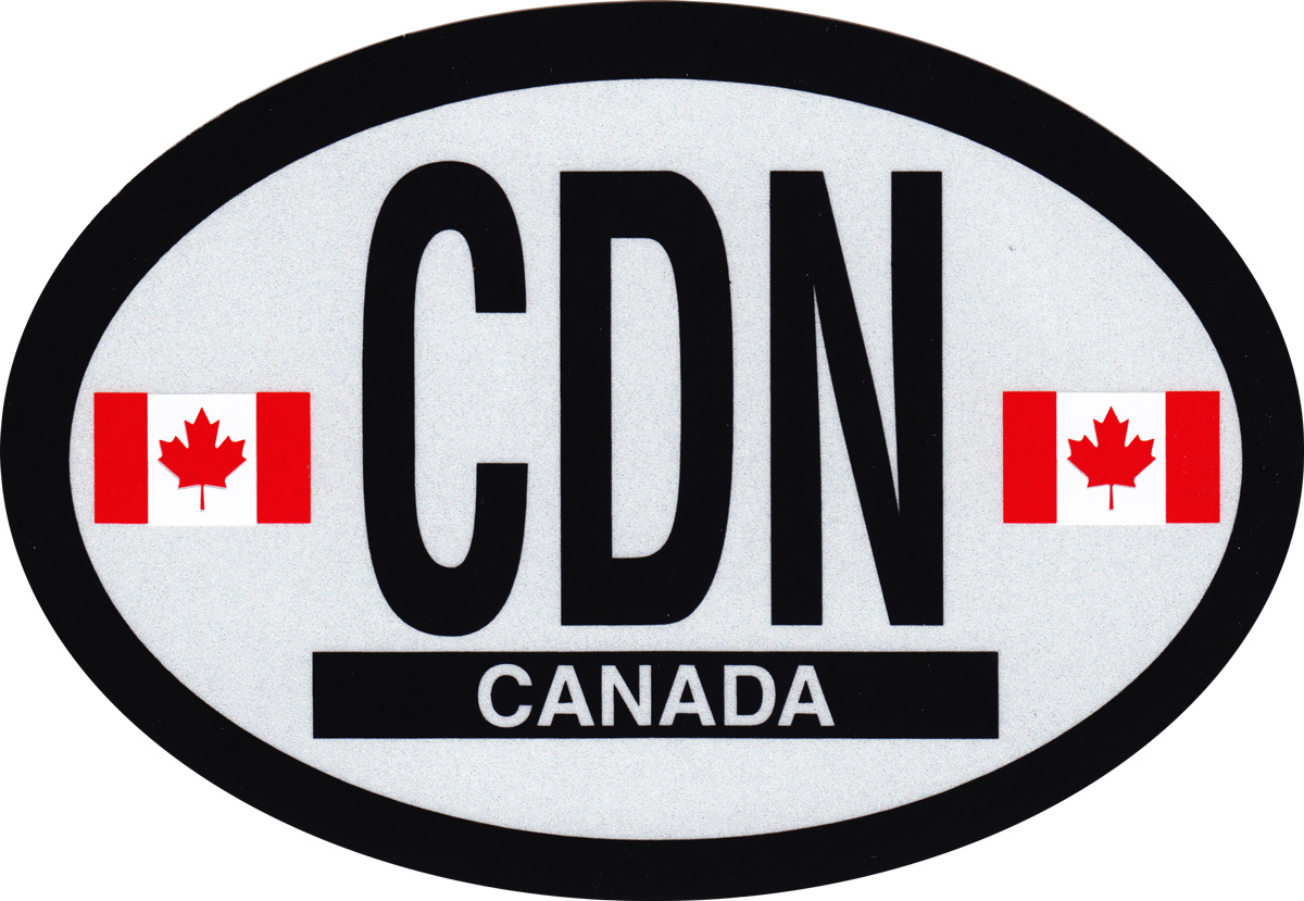 Buy Canada Oval Decal Flagline