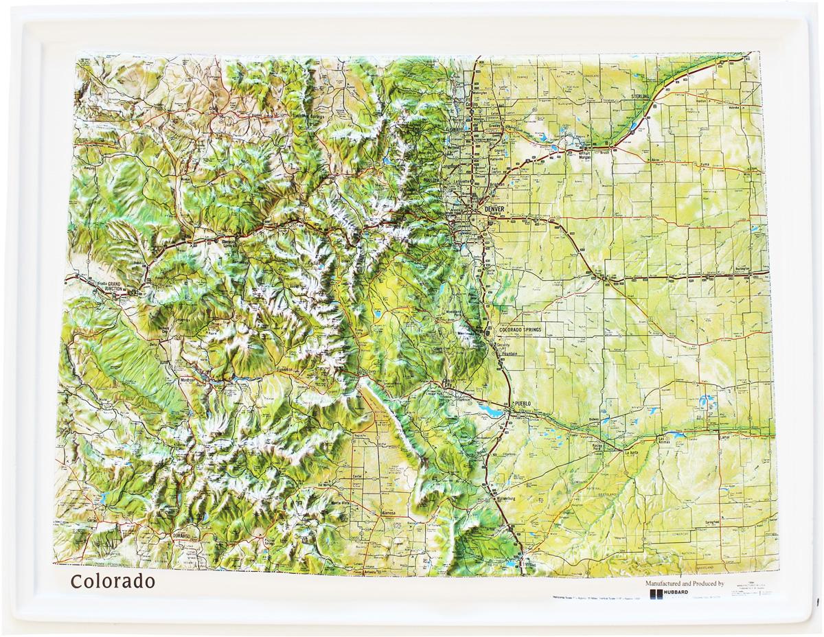 Buy Colorado Relief Map Flagline