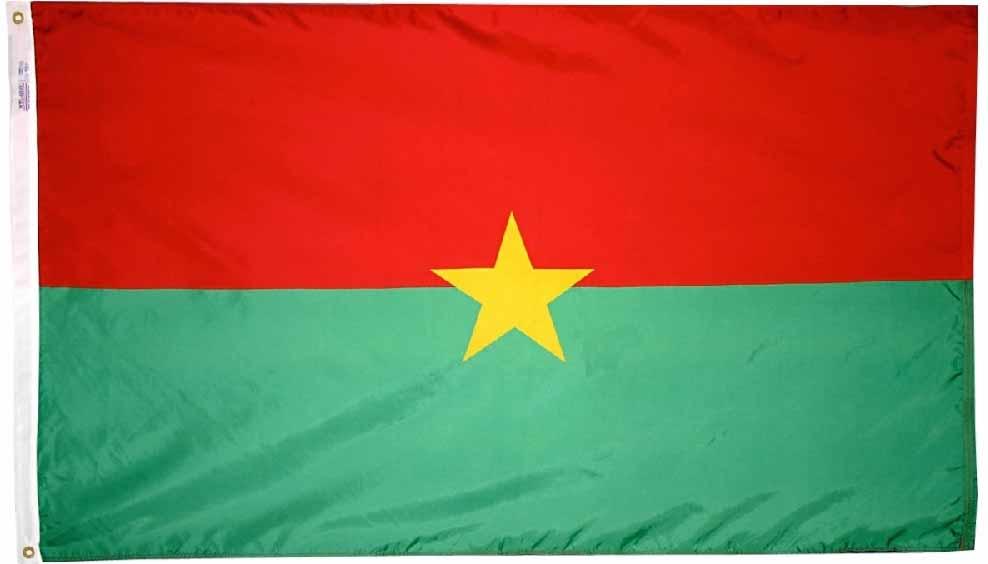Buy Burkina Faso 5 X8 Nylon Flag Flagline