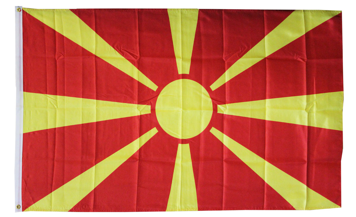 Buy Macedonia Republic of  3X5 Polyester Flag  Flagline