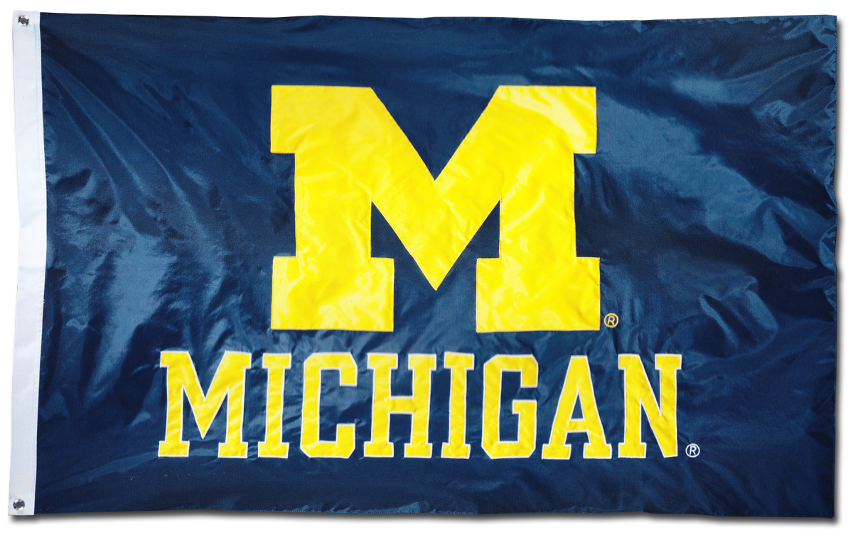 Buy University Of Michigan 3 X 5 Ncaa 2 Sided Nylon
