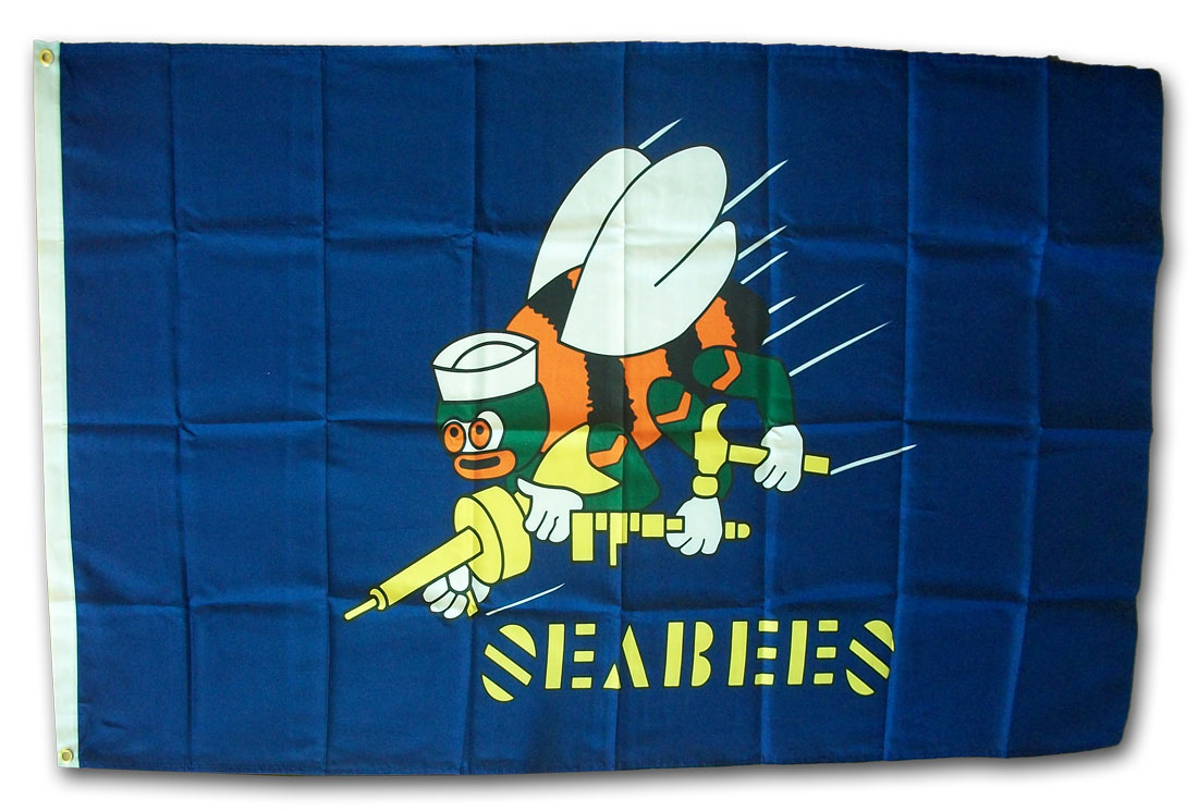 Buy Seabees 3 X5 Polyester Flag Blue Flagline