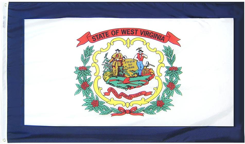 Buy West Virginia 3 X5 Nylon Flag Flagline