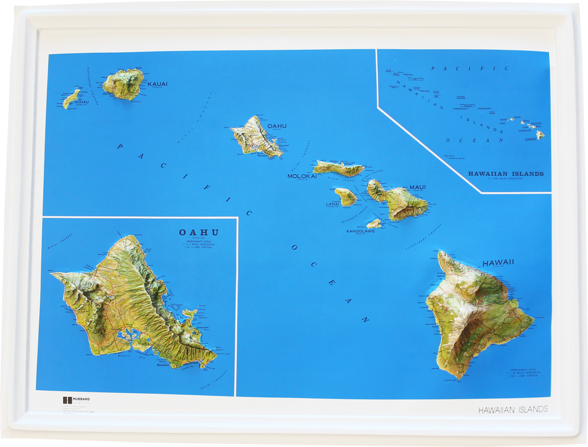 buy hawaii relief map