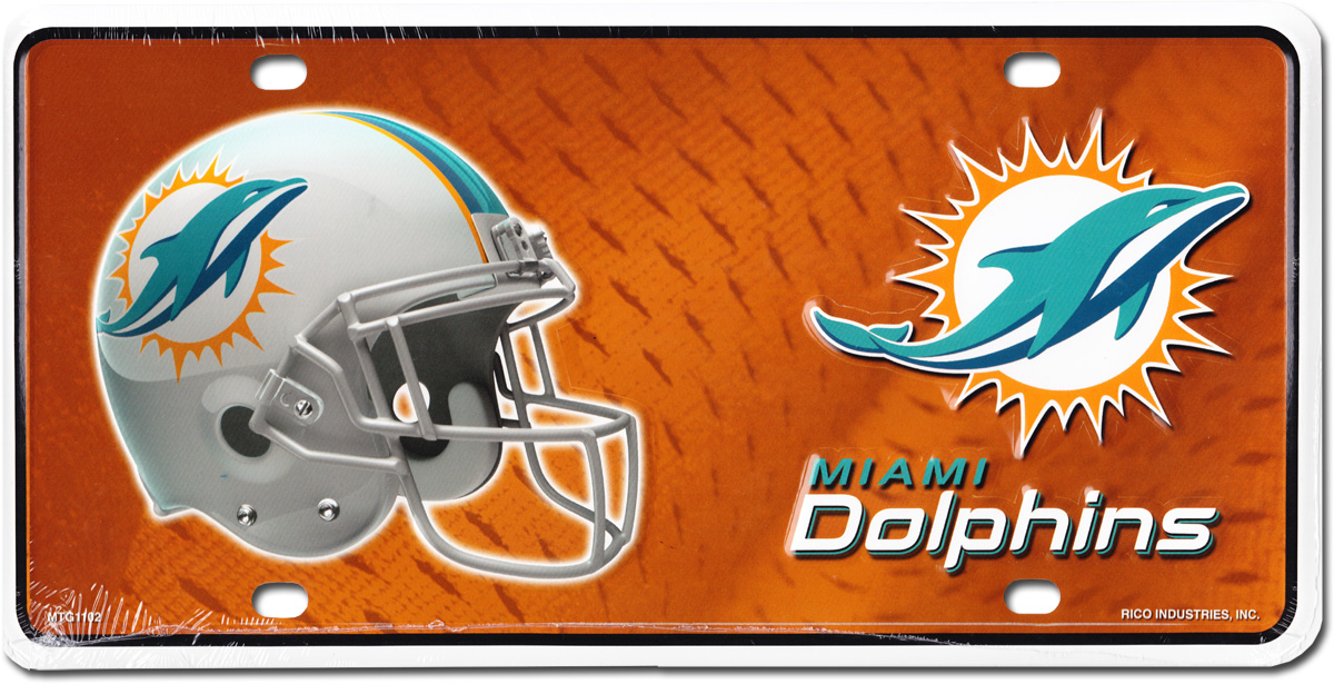 Buy Miami Dolphins Nfl License Plate Flagline