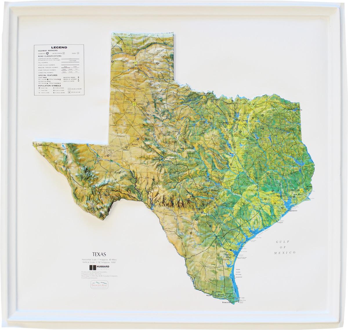 Buy Texas Relief Map Flagline