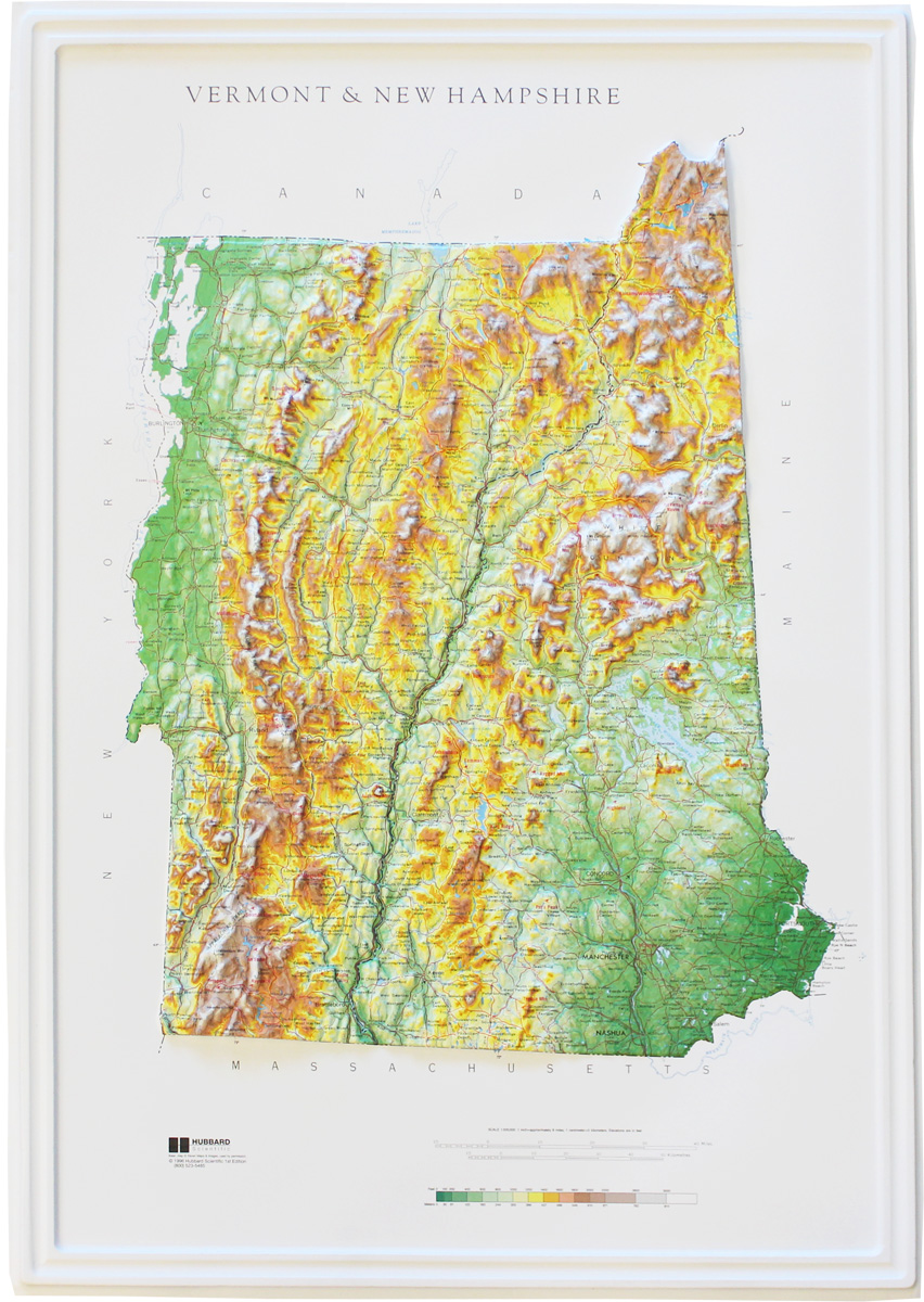 Buy New Hampshire Relief Map Flagline