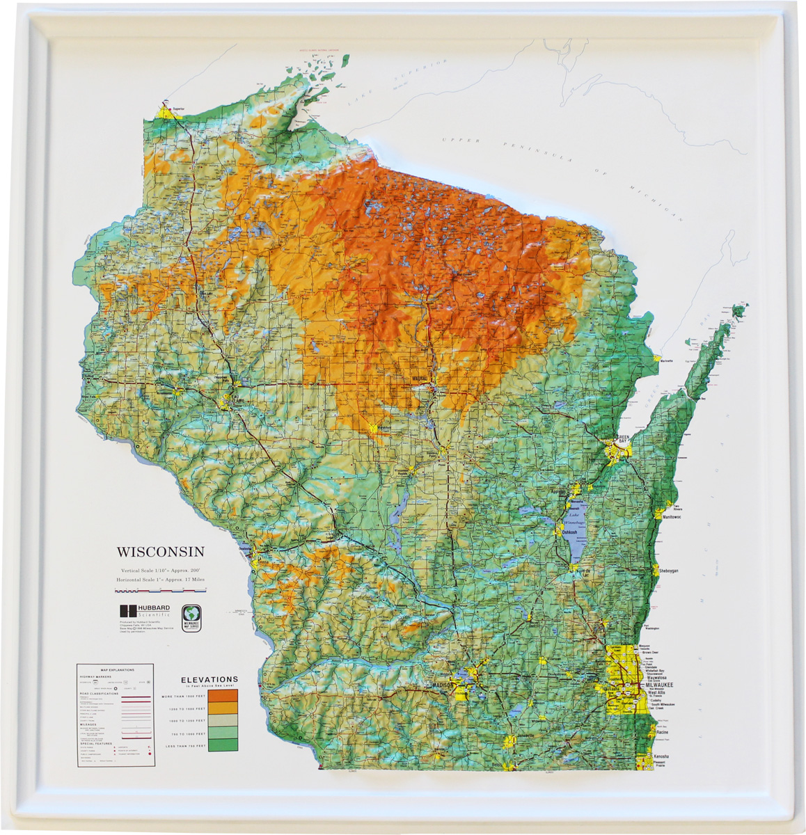 Buy Wisconsin Relief Map