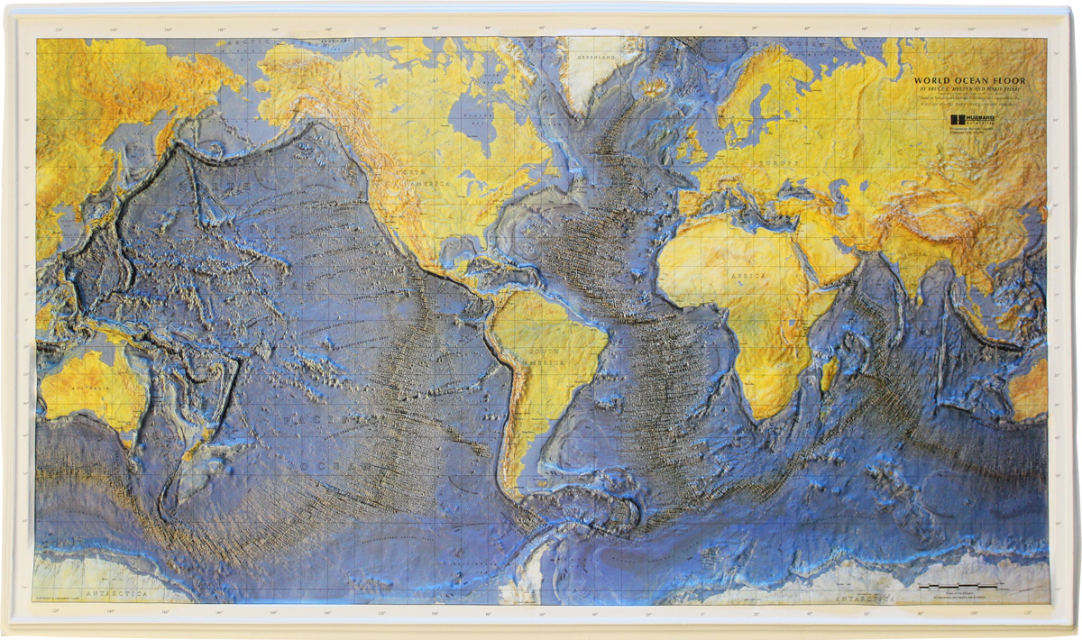 Buy World Relief Map Ocean Floor Flagline