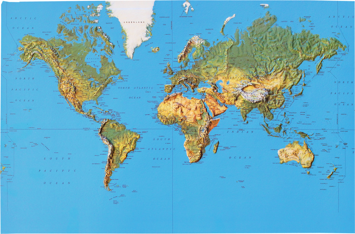 Relief Map World