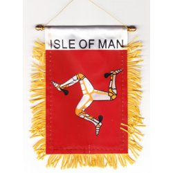 Country Rectangular Patch Flagline Isle of Man