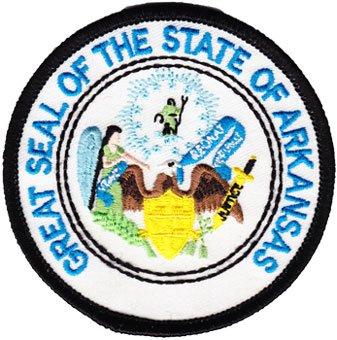 buy arkansas circular state seal patch flagline