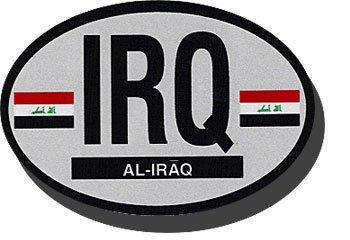 Buy Iraq Oval Decal 2008 Flagline