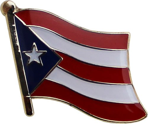PUERTO RICO Puerto Rican Metal Flag Lapel Pin Badge *NEW*