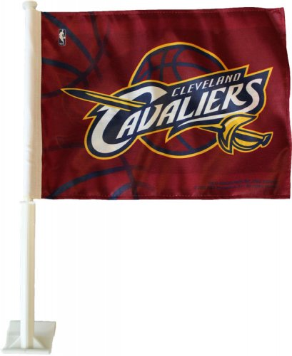 Cleveland Cavaliers Fans Scale Walls To Get Photos Of Nba: Buy Cleveland Cavaliers NBA Car Flag