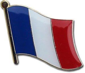 France Lapel Pin (Single Waving Flag) - France Flags