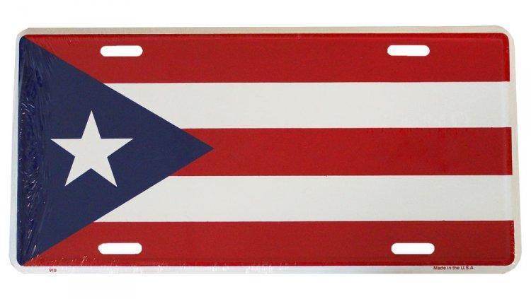 Buy Puerto Rico License Plate Flagline