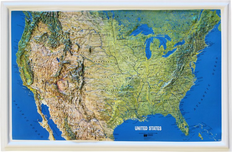 Relief Maps Flagline - Us relief map
